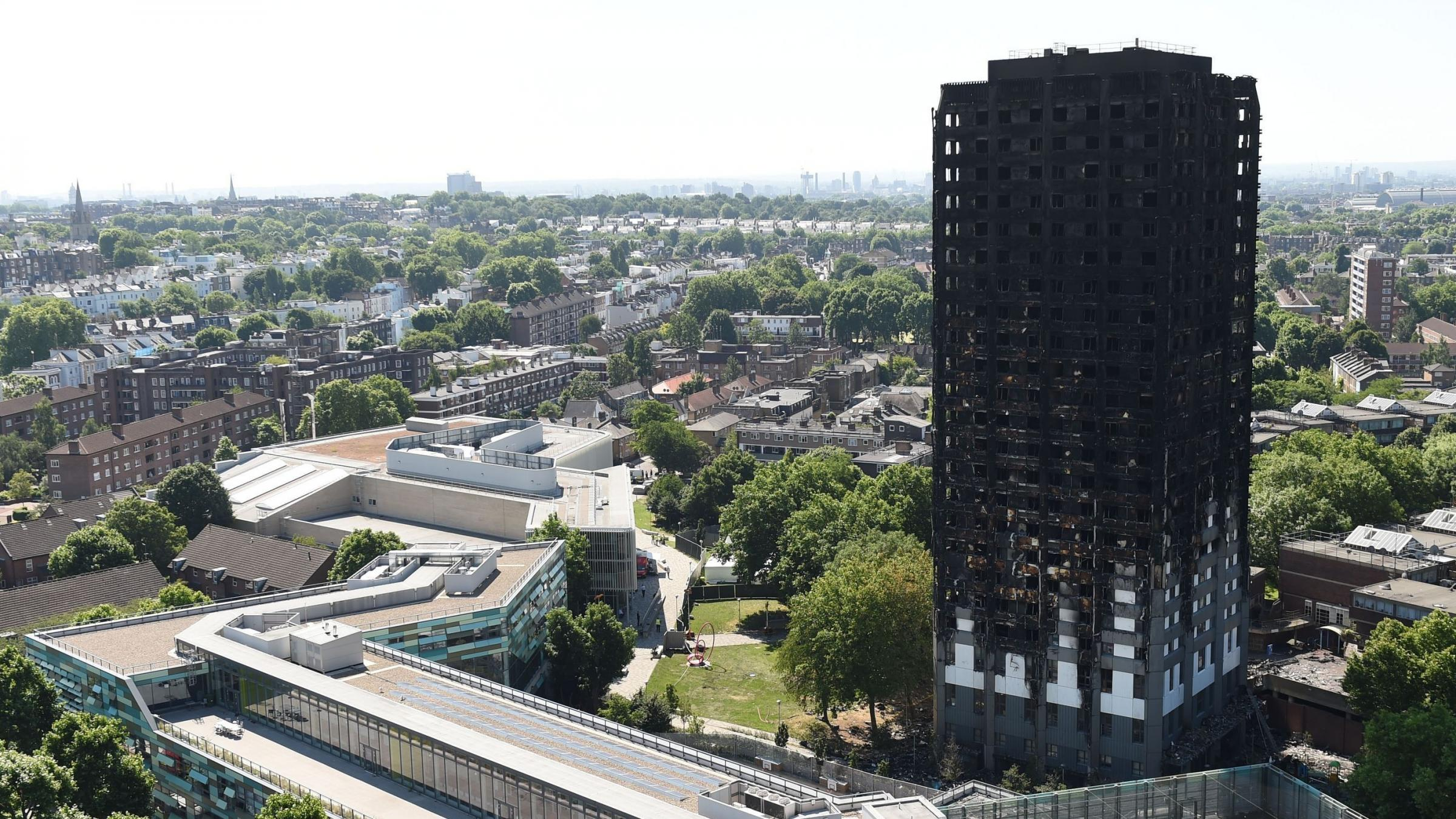 Banned materials suspected in London fire