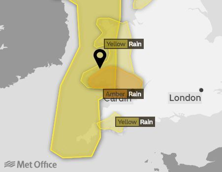 Met Office updates yellow weather warning as Storm Callum approaches